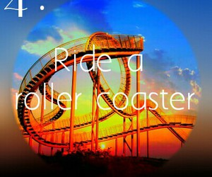 Roller Coaster and bucket list image