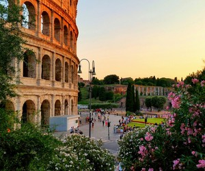 colosseum, evening, and italy image