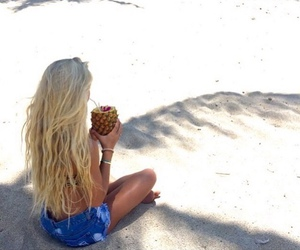 beach, girl, and long hair image