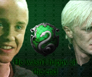 draco malfoy, dumbledore, and harry potter image