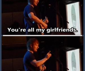 ed sheeran, ed, and girlfriend image