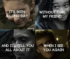 the hunger games, rue, and prim image