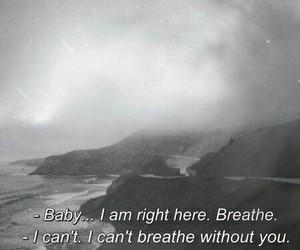 quote, breathe, and sad image