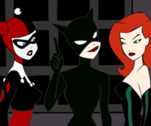 catwoman, girl, and poison ivy image