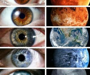 eyes, planet, and eye image