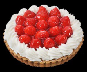 food, pie, and strawberries image