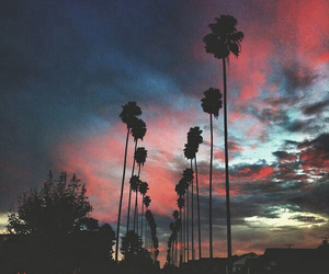sunset, sky, and grunge image