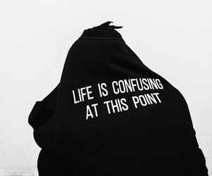 life, quotes, and black image