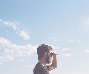 boy, sky, and indie image