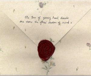 vintage, Letter, and love letter image