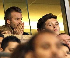 David Beckham, brooklyn beckham, and romeo beckham image