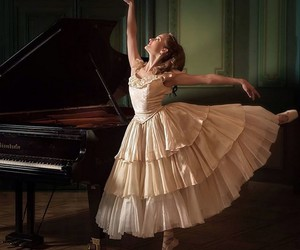 ballet, ballerina, and piano image