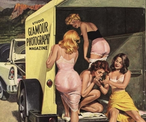 glamour, illustration, and pin-up image