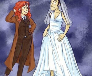 doctor who, donna, and nine image