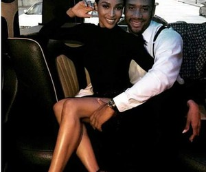 ciara, couple, and russell wilson image