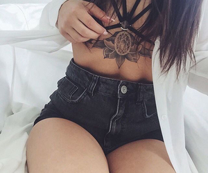 girl, grunge, and tattoo image