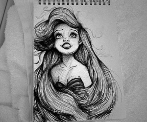 art, ariel, and disney image