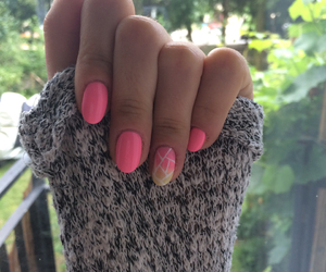 lines, nails, and pink image