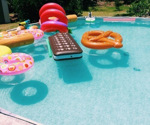 summer, pool, and food image