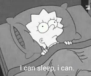 sleep, simpsons, and lisa image