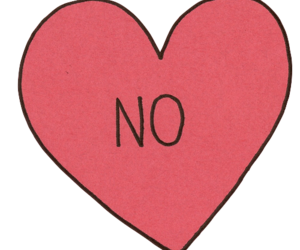 no, heart, and red image