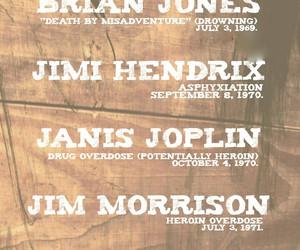 Amy Winehouse, Brian Jones, and janis joplin image