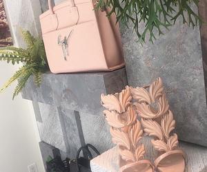 heels, fashion, and bag image