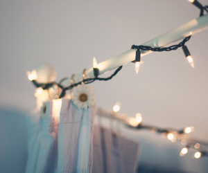 light, bedroom, and flowers image