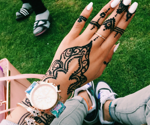 adidas, henna, and nails image