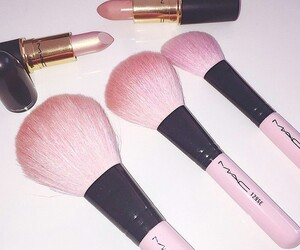 mac, pink, and lipstick image