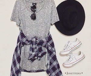 outfit, dress, and converse image