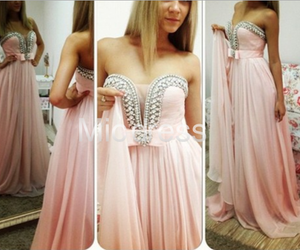 fashion, pink, and prom dresses image