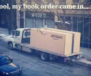 book, Amazon, and funny image