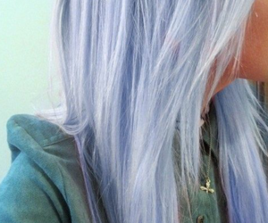 hair, light, and pastel image