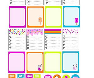planner and stickers image