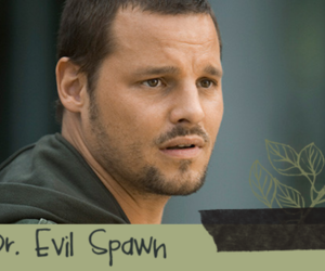 evil spawn, greys anatomy, and alex karev image