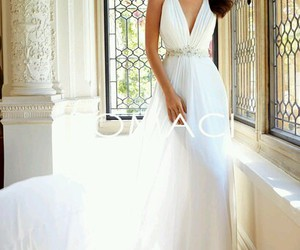 beautiful, diamonds, and wedding dress image