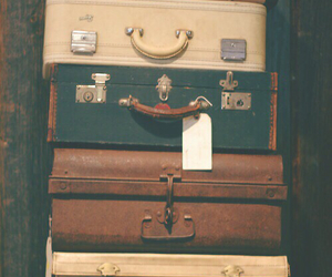 travel, vintage, and suitcase image