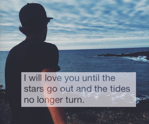 love, quote, and beach image
