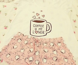 coffee, pink, and clothes image