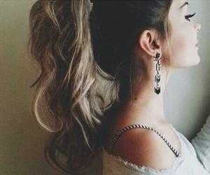 beautiful girl, earrings, and fake image