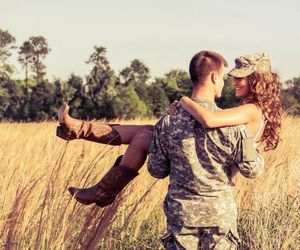 couple, love, and army image