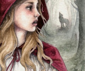 fairy tales, little red riding hood, and red hood image