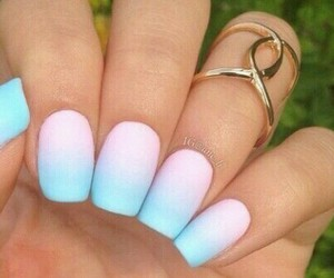 color, nails, and ombre image