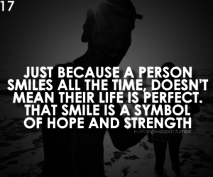 quote, smile, and hope image