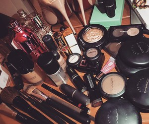 Brushes, lipstick, and love image