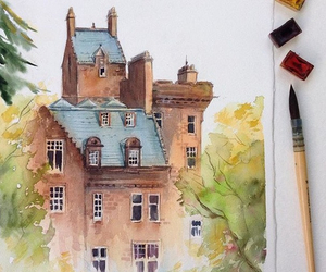 artist, castle, and draw image