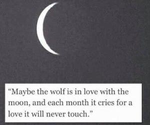 couple, wolf love moon, and cry sad romance image