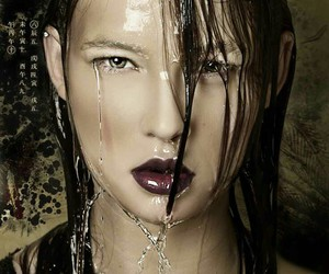 avant garde, fashion photography, and water drops image