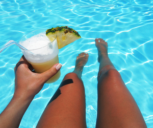 fruit, pool, and summer image